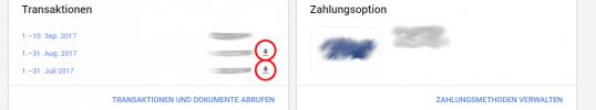 Quittung / Rechnung von Google Ads (früher: AdWords) herunterladen