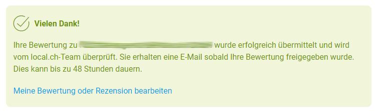local.ch prüft Bewertungen