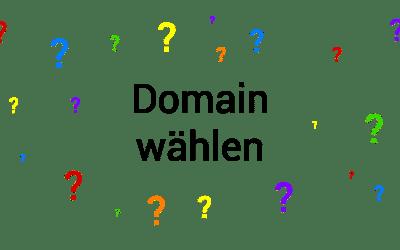 Domain für Webseite richtig auswählen