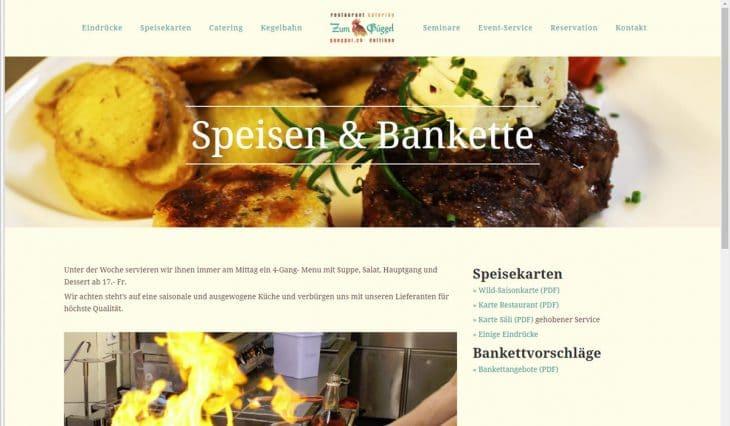 Webseite Restaurant zum Güggel