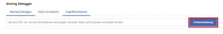 Facebook Fehlerbehebung
