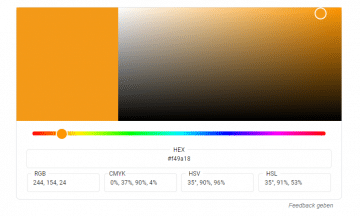 Farbauswahl bei Google