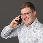 Gregor Rüdisüli am Telefon