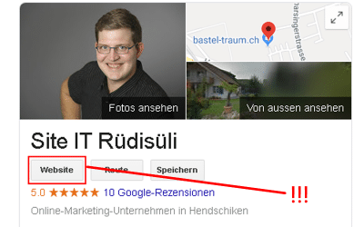 localsearch SWISS-LIST & Google My Business Problem & Lösung