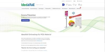 Onlineshop Umsetzung und Betreuung für Ideealfall Wildegg GmbH in Niederlenz