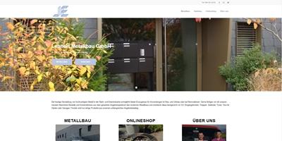 Onlineshop und Webseite erstellen für Lehnert Metallbau GmbH in Oberflachs
