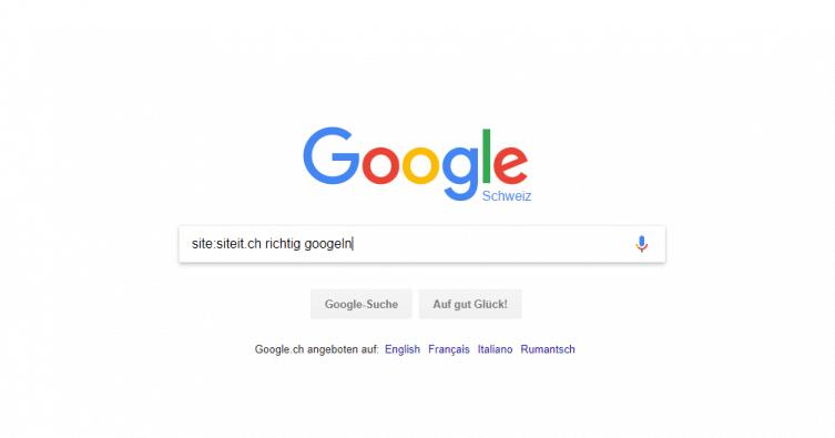 Richtig googeln
