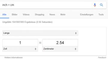 Google Einheitenrechner