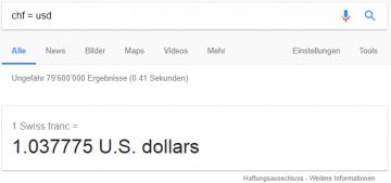 Währungsrechner von Google