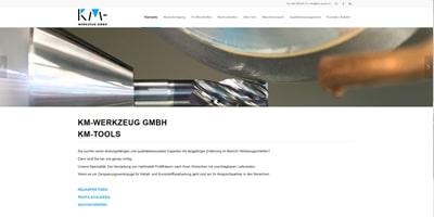 Webseite erstellen für KM Werkzeug GmbH in Hendschiken