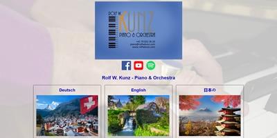 Mehrsprachige Webseite für Piano & Orchestra Rolf W. Kunz