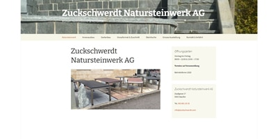 Webseite für Zuckschwerdt Natursteinwerk in Staufen