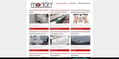 Webseite von Marlan in Niederlenz